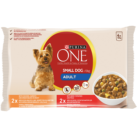 Purina ONE Small Dog Wet Adult Food Chicken