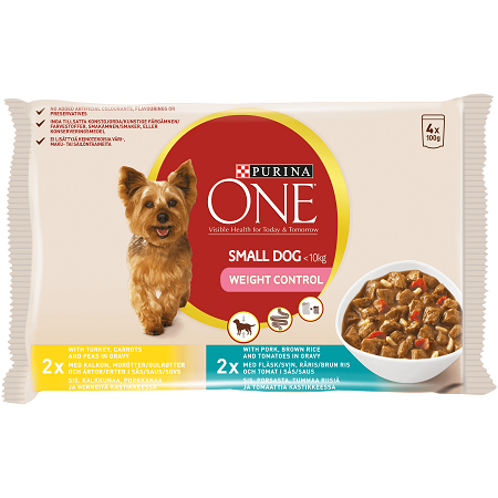 Purina ONE Small Dog Wet Weight Control Food Turkey
