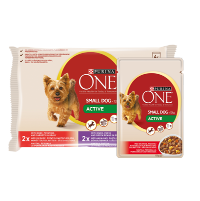 Purina ONE Small Dog Wet Active Food Beef