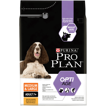 ​PURINA® PRO PLAN® Medium & Large Adult 7+ med OPTIAGE® Rik på kyckling