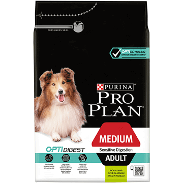 ​PURINA® PRO PLAN® Medium Adult Sensitive Digestion med OPTIDIGEST® Rik på lamm