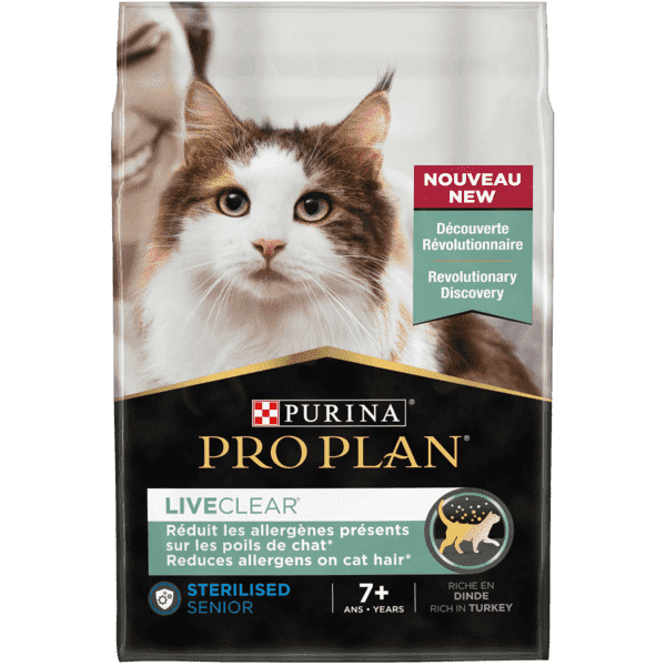 PRO PLAN® LIVECLEAR® Sterilised Senior 7+ year Kalkon